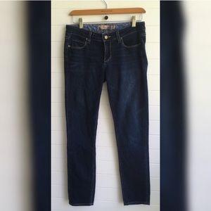 [Paige] Skyline Dark Denim Skinny Straight Jeans